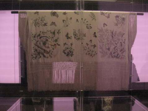 China: Through the Looking Glass, Export Silk and Calligraphy