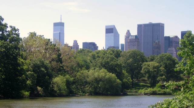 Cropped Pond at Central Park NYC