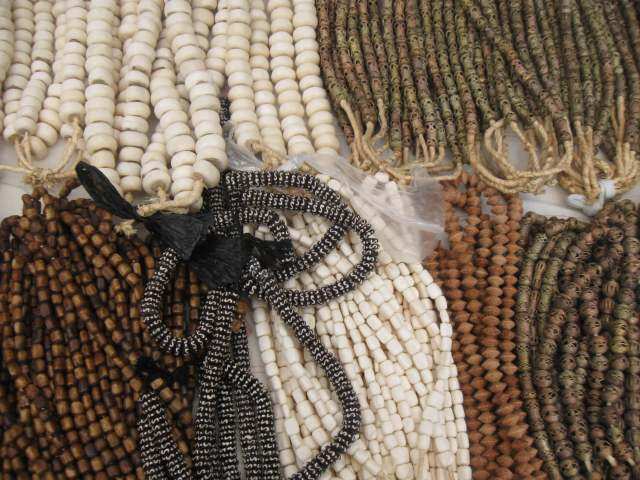Glass , bone, wood, and metal beads everywhere at B.A.M. Dance Africa 2015