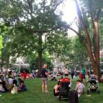 Park is filled with barebecue fans