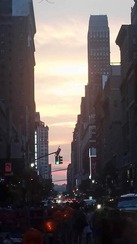 Cloudy Manhattanhenge 2015