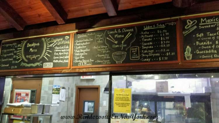 The menu board at Panya