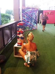 Super Sized Jenga at Chandon Summer Fete , NYC #ChandonSquad