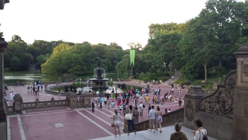 Bethesda Fountain in Central Park , NYC