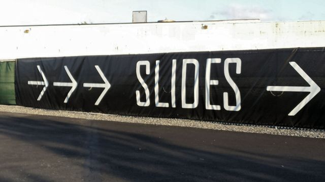 The slides on the Hills on Governors Island, NYC