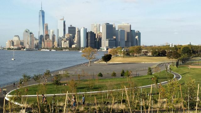 Views from the Hills at Governors Island, NYC