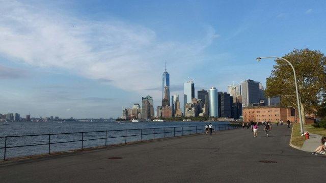 Hills on Governors Island in NYC