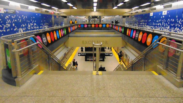 The 96th street Q train station in Manhattan Second Aveune Subway, NYC