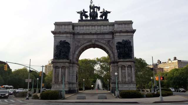 Soldier's And Sailor's Arch at the entrance to Prospect Park in NYC