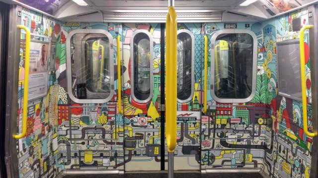 Art on the E train, Rendezvous En New York NYC