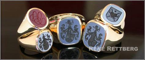 Siegelringe mit Lagensteinen  Hochwertige Siegelringe und