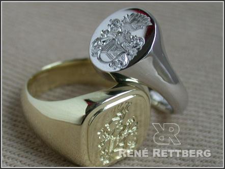 Siegelringe mit Goldgravur  Hochwertige Siegelringe und