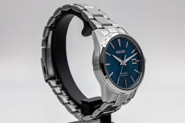 Seiko Presage Blue Dial Sharp Edge Watch