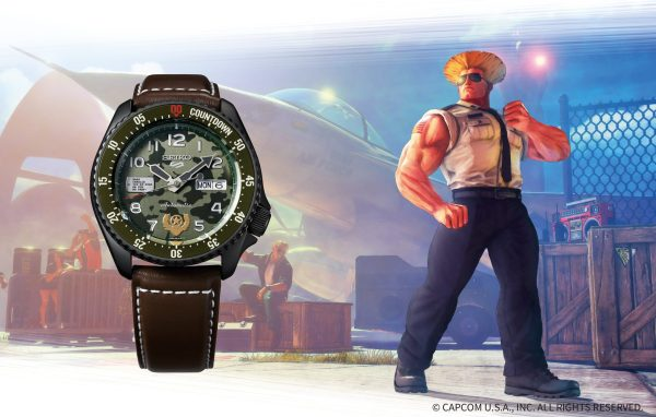 """Seiko 5 """"Street Fighter Guile Model"""" Limited Edition SRPF21K1"""