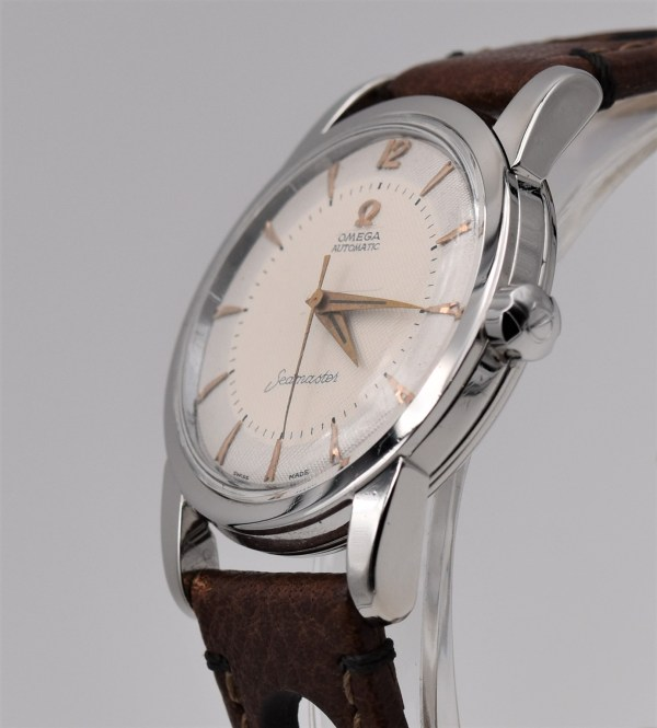 "Omega Seamaster Automatic engraved ""Saab thank you"""