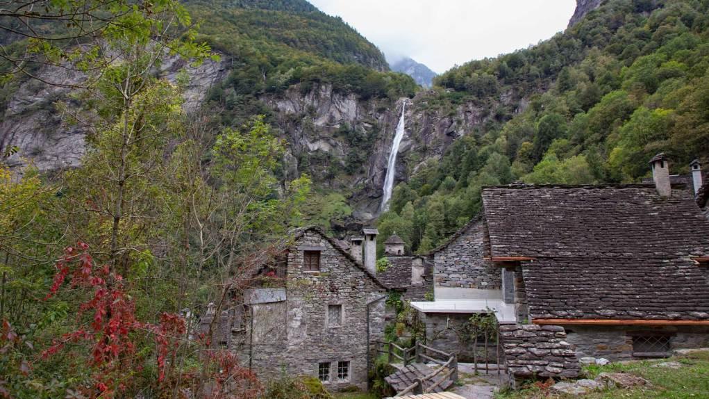 Der bekannte Wasserfall bei Foroglio