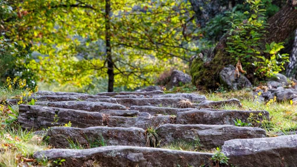 Schöne Steintreppen