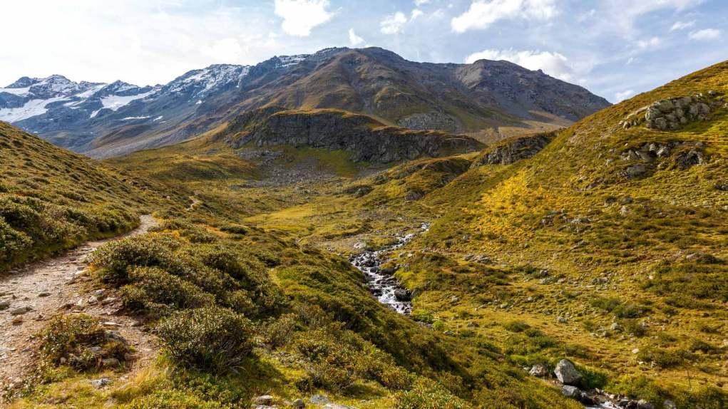 Schöne Landschaften beim Aufstieg