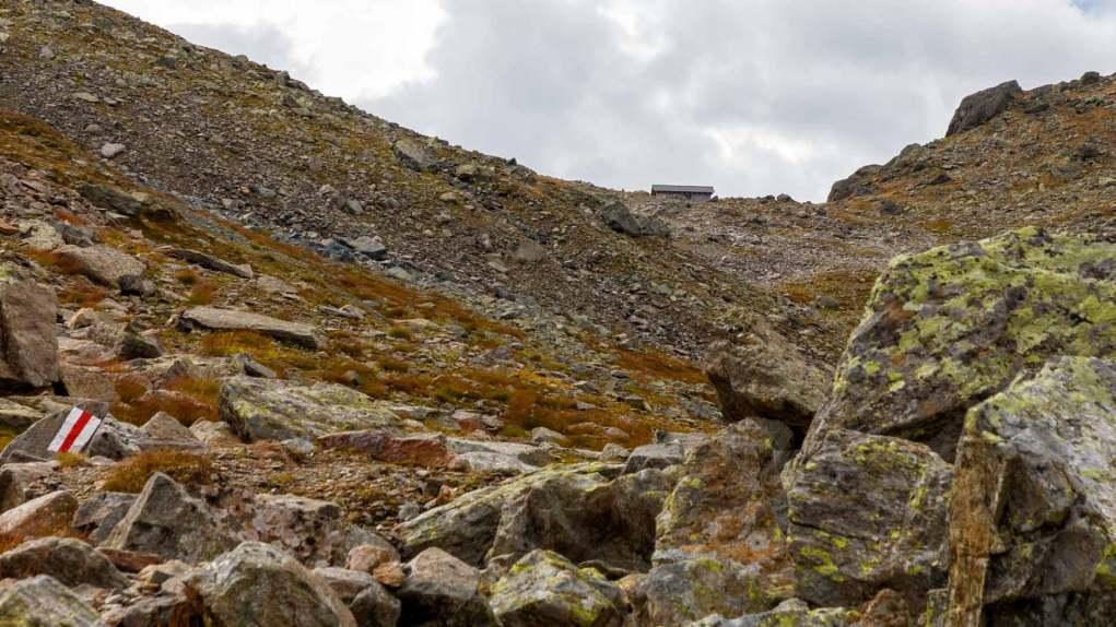 Der Scalettapass in Reichweite