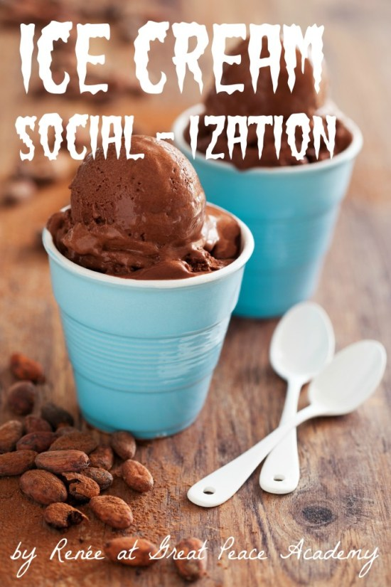 Ice Cream Social - ization, why Christian homeschoolers seek social opportunities.
