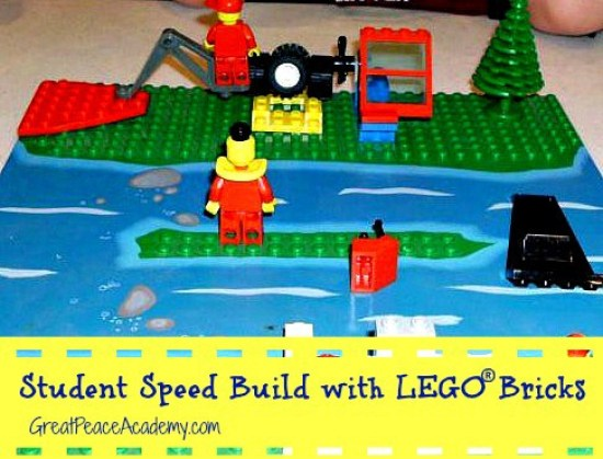 Student Speed Build with LEGO Bricks | Great Peace Academ
