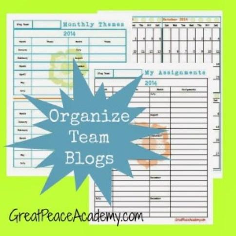 Organize Team Blogs