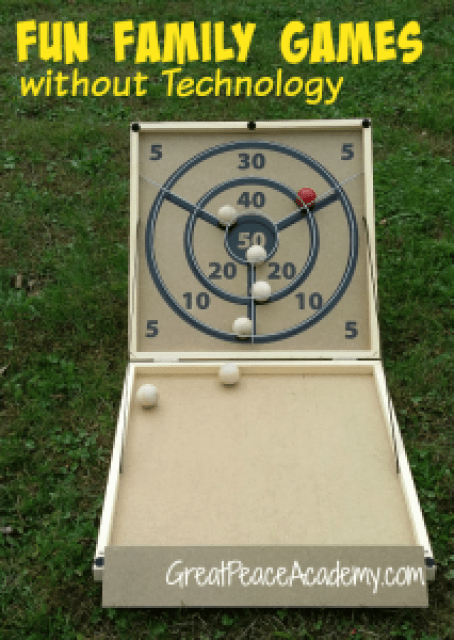 Family Fun Games without Technology from Carrom Company, at Great Peace Academy