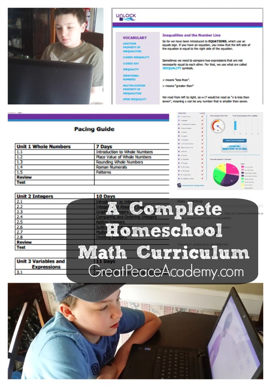 A Complete Homeschool Math Curriculum using Unlock Math | Great Peace Academy