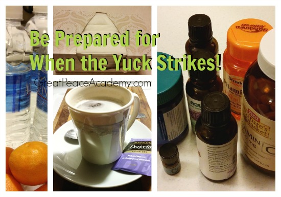 Winter Illness Home Prep, Prepare for the Yucks by stocking up on supplies and be ready to take care at home. | Great Peace Academy