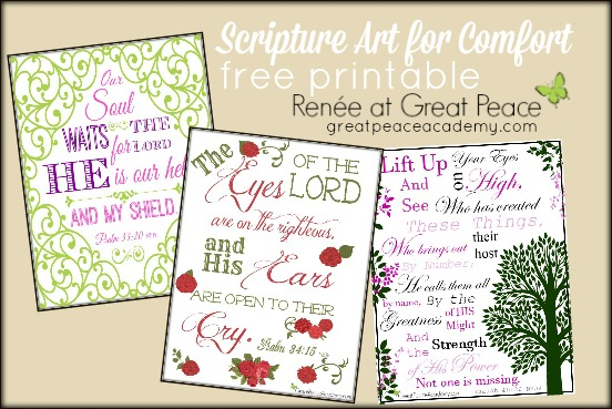 Scripture art for comfort for the barren woman's soul. | Renée at Great Peace