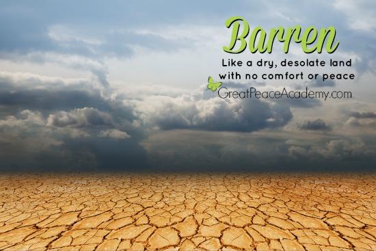 A Barren Sorrow | Renée at Great Peace