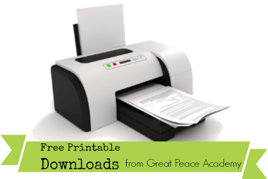 Free Printable Downloads from Great Peace Academy