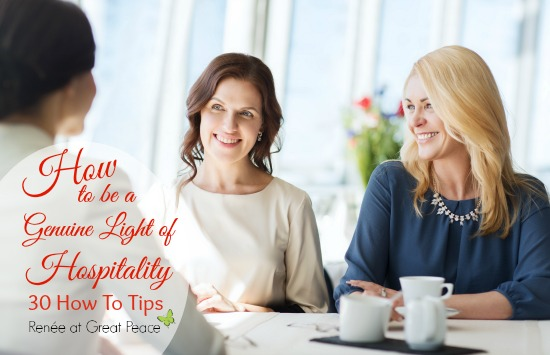 How to be a light of hospitality to your community. by Renee at Great Peace