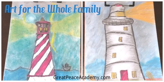 Art in Homeschool for the Whole Family with You ARE an Artist Curriculum   Great Peace Academy