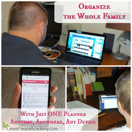 Organize the whole family with just ONE Planner.   Great Peace Academy