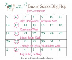 Not Back 2 Homeschool Blog Hop Curriculum Week 2015