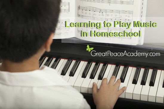 Learning to Play Music Online for Homeschool | Reneé at Great Peace #homeschool #musicappreciation #musiclessons #ihsnet