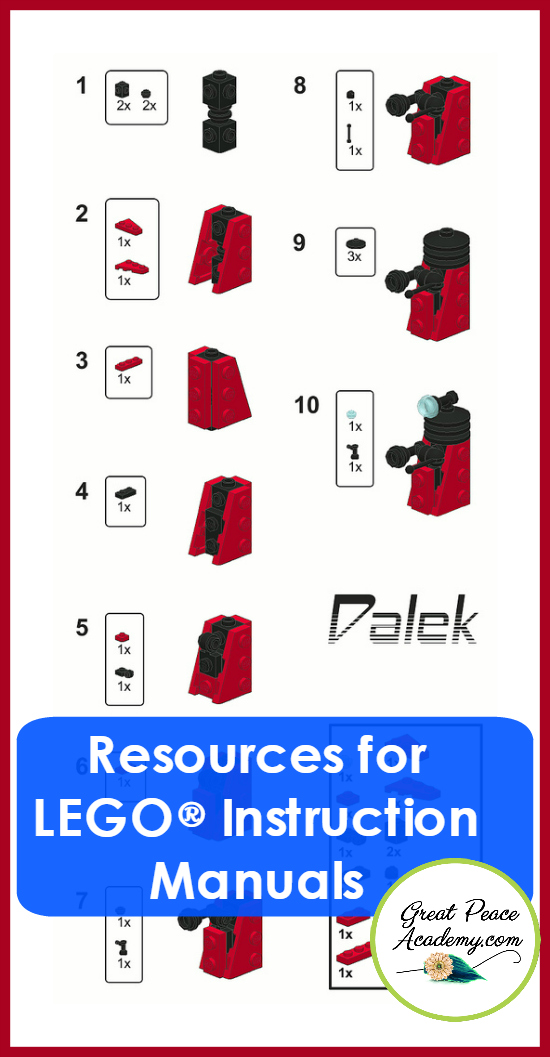 How To Find Lego Instruction Manuals Rene At Great Peace