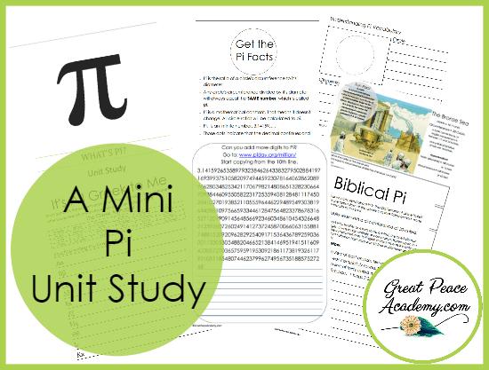 A Mini Pi Unit Study Free Download | GreatPeaceAcademy.com