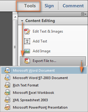 How To Convert Pdf To Word With Adobe Acrobat Pro Rene E Laboratory