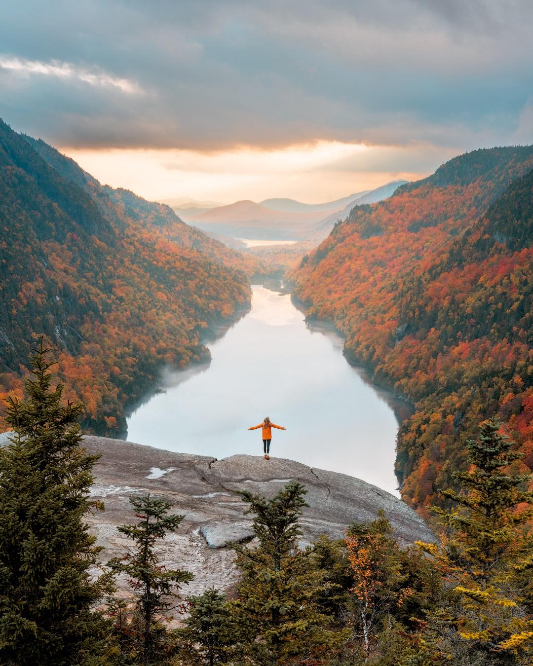 New England Fall Road Trip Ultimate Itinerary Renee Roaming Adirondacks Lake Placid Hike Upstate New York