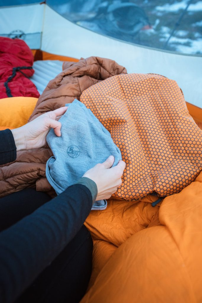 10 Tips for Getting a Good Night's Sleep when Backcountry Camping - Pillow Trick 1