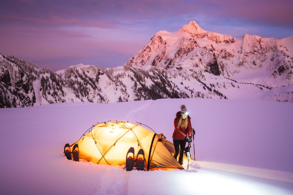 Ultimate Guide to Winter Hiking and Camping - showshoe hike in winter