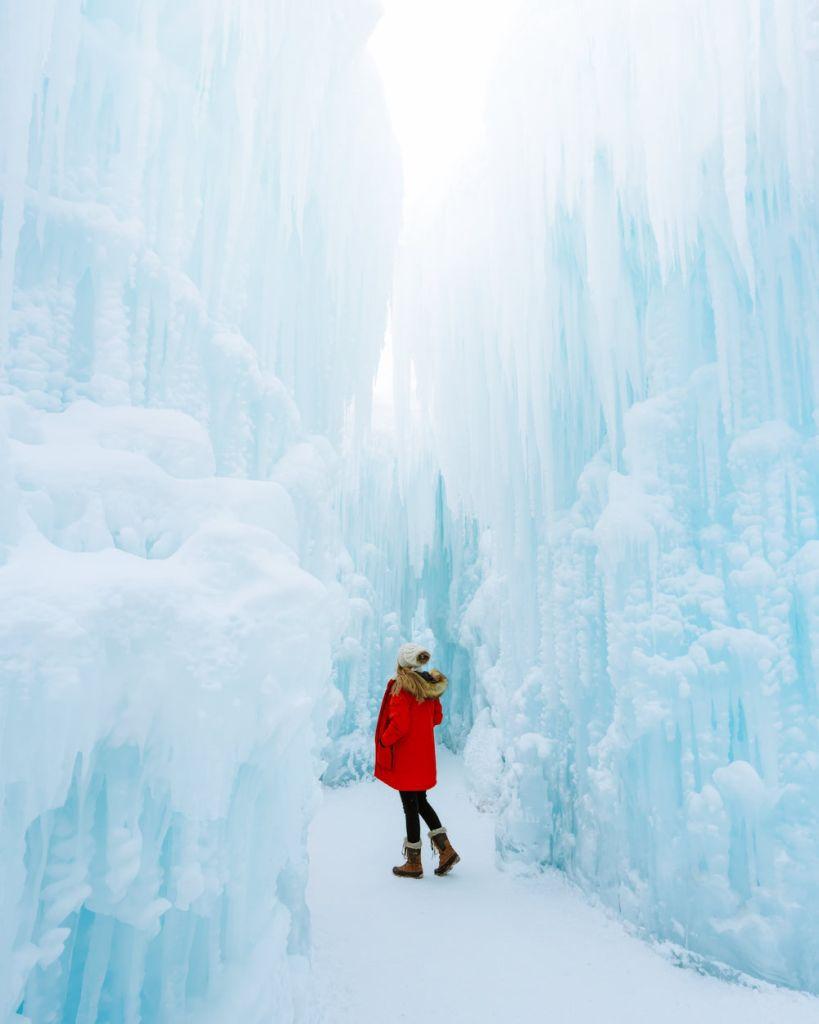 Planning a Trip toBanffin Winter - Alberta Edmonton Ice Castles - Renee Roaming