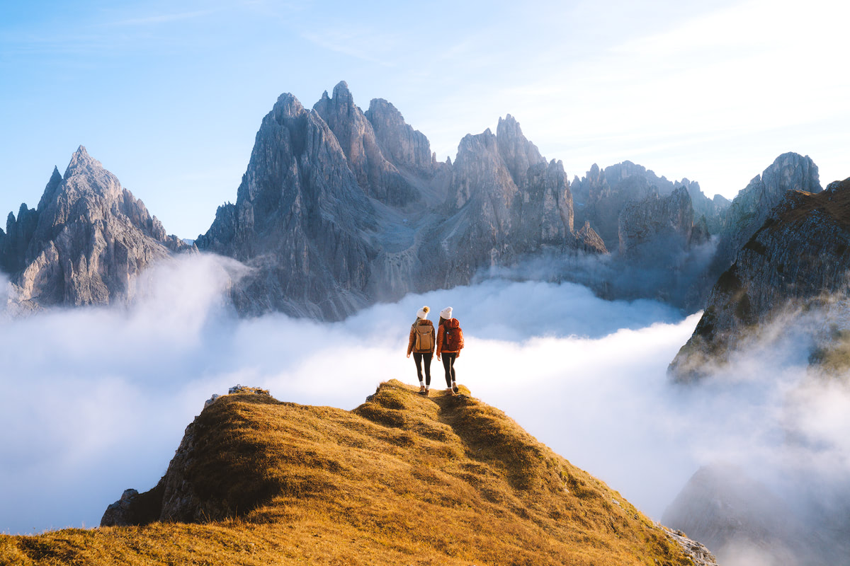 Plan the Ultimate Fall Road Trip to the Dolomites of Italy - Tre Cime Cloud Inversion
