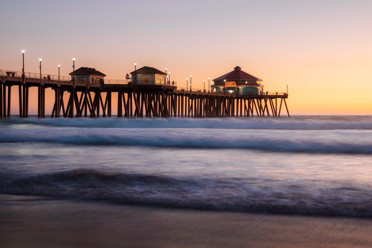 Orange County Travel Guide Everything You Need to Know- Huntington Beach Blue Hour