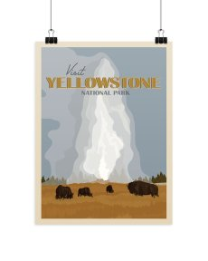 Holiday Gift Guide for National Park Lovers - Yellowstone Print