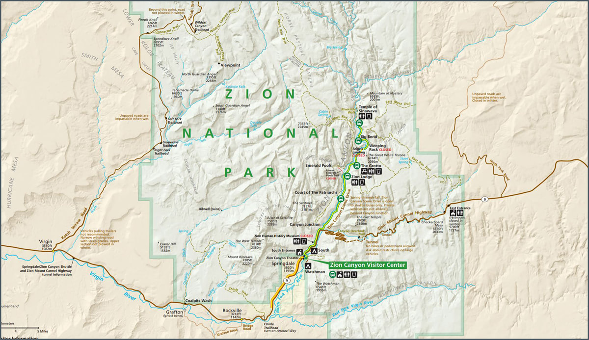 The Ultimate Guide to Exploring Zion National Park - Park Map