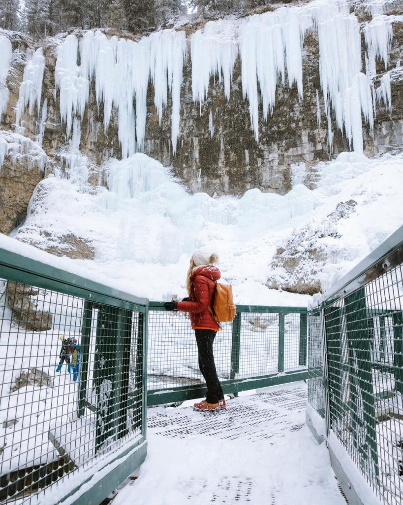 12 Best National Parks to Visit in Winter - Banff National Park Johnston Canyon