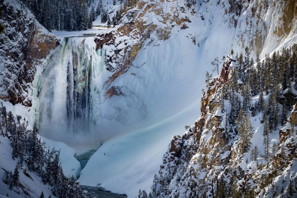 12 Best National Parks to Visit in Winter - Yellowstone National Park Grand Canyon of the Yellowstone